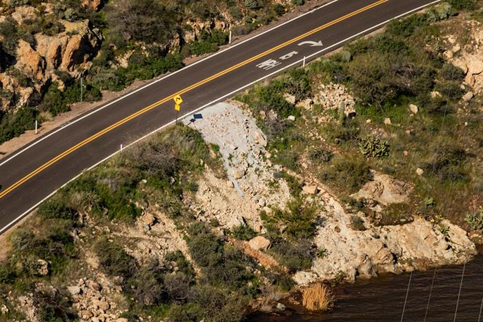 Several areas along SR 88 required work due to water damage.