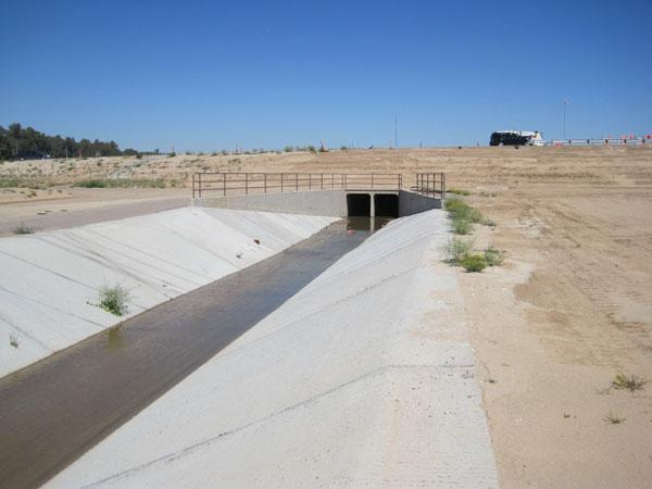 Drainage channel along Loop 303
