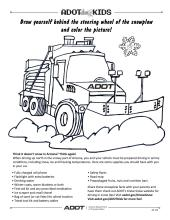 Coloring Sheet ADOT Kids snowplow