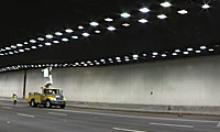 Changing light bulbs in the Deck Park Tunnel on I-10