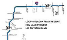 Partial Loop 101 HOV Lane Project Map