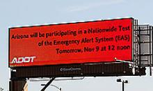 Emergency Alert Sign for Nationwide Test