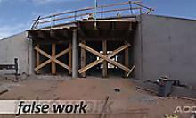 False Work used during bridge construction