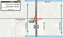 Loop 303/Greenway intersection closure