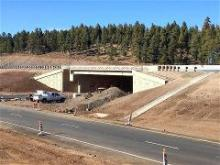 A view of the project on I-17 at Munds Park.