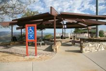 ADA Compliant picnic tables at Sunset Point Rest Area