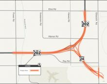 SR 24 project area map