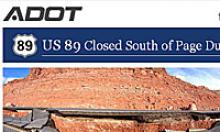 US 89 closed south of page due to landslide