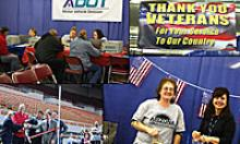 Collage of photos of MVD providing services to veterans