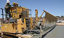 Machines doing construction on the Loop 303