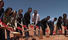 ADOT and the Navajo Division of Transportation Breakground for NR 20