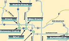 Map of the valley freeway nicknames