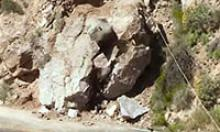 Large boulder near the roadway
