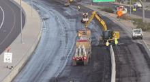 ADOT crew places jersey barriers