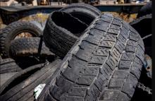 Road gators: jumble of old tire treads picked up off highways.