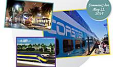 Collage of passenger rail pictures
