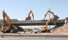 I-10 bridge demolition