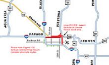 I-10 closure map