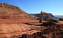 Piece of heavy-duty equipment works on subgrade of US 89