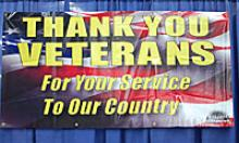 Thank you veterans for your service to our country