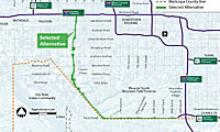 South Mountain Freeway Project Map