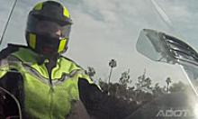 Person on a motorcycle