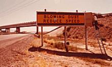 Changeable message sign from 1972