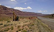 Crews are working on improvements to an eight-mile segment of US 89, about 30 miles south of Page.