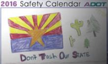 Drawing from 2016 ADOT Safety Calendar