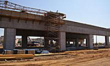 US 60 and Bell interchange under construction.