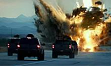 Transformers movie filming on Loop 303 includes car chase and explosions.