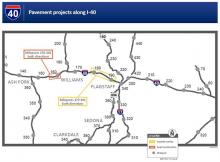 I-40 Project Map