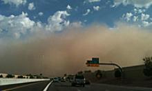 Dust storm moves over Ray Road
