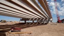 Girders placed for Loop 202 South Mountain Freeway bridges spanning the Salt River