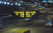 Focused driving is the way of the Jedi