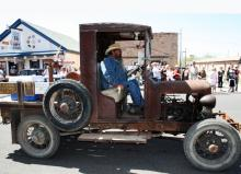 Early version of a pickup truck participating in the Route 66 Fun Run