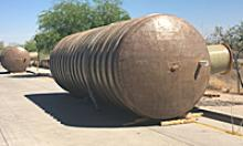 Septic tanks waiting to be installed