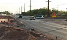 Site of new roundabout on SR 88 and Superstition Blvd