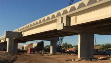 Work continues on the second half of the I-19/Ajo Way traffic interchange project.