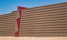 Sound wall designs for Loop 202 South Mountain Freeway inspired by Frank Lloyd Wright.