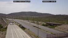 View of light traffic on I-17 from traffic camera.