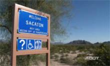 Sacaton Rest Area Sign