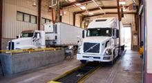 Semi Trucks in Port of Entry Inspection Bay