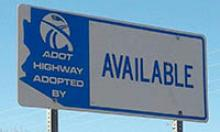 Adopt a Highway Available sign