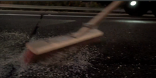 Sweeping glass is one of the IRU's tasks