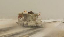 ADOT plow in action