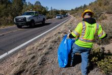 SR 87 Payson litter cleanup Adopt a Highway