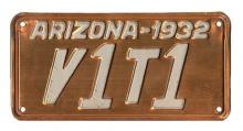 1932 plate