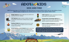 ADOT Kids Engineer career seek-and-find activity page