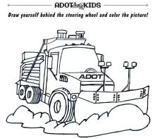 Snow Plow Coloring Page | Free Printable Truck Activity | 196x220